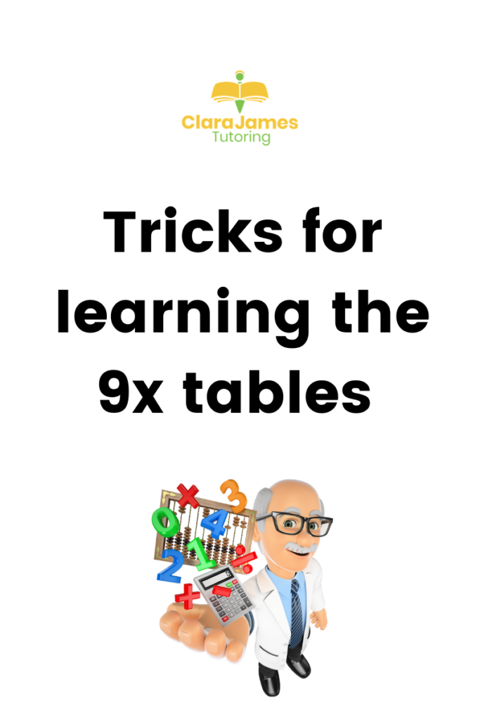 Tricks for learning the 9x tables