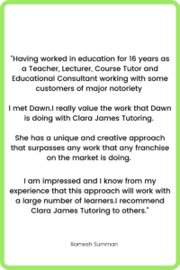 Feedback for Clara James Tutoring