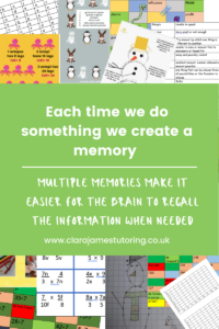 Creating multiple memories to assist learning