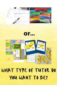 What type of tutor are you?
