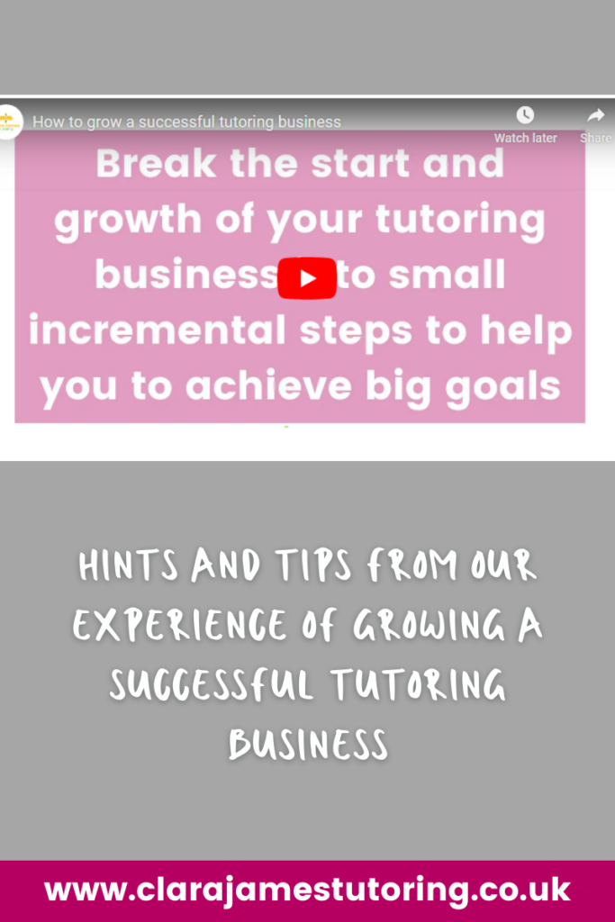 Build your tutoring business step by step
