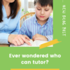 Who can tutor?