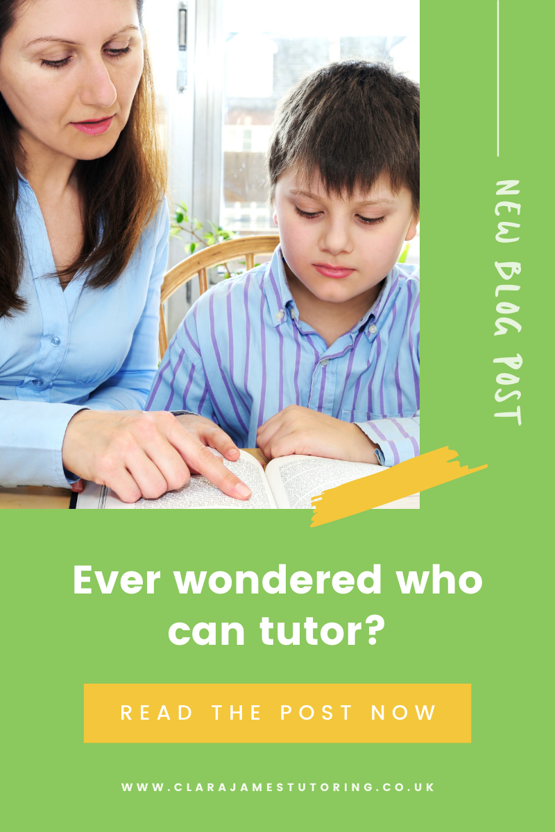 Who can be a tutor?