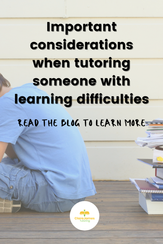 working with a child who has learning difficulties
