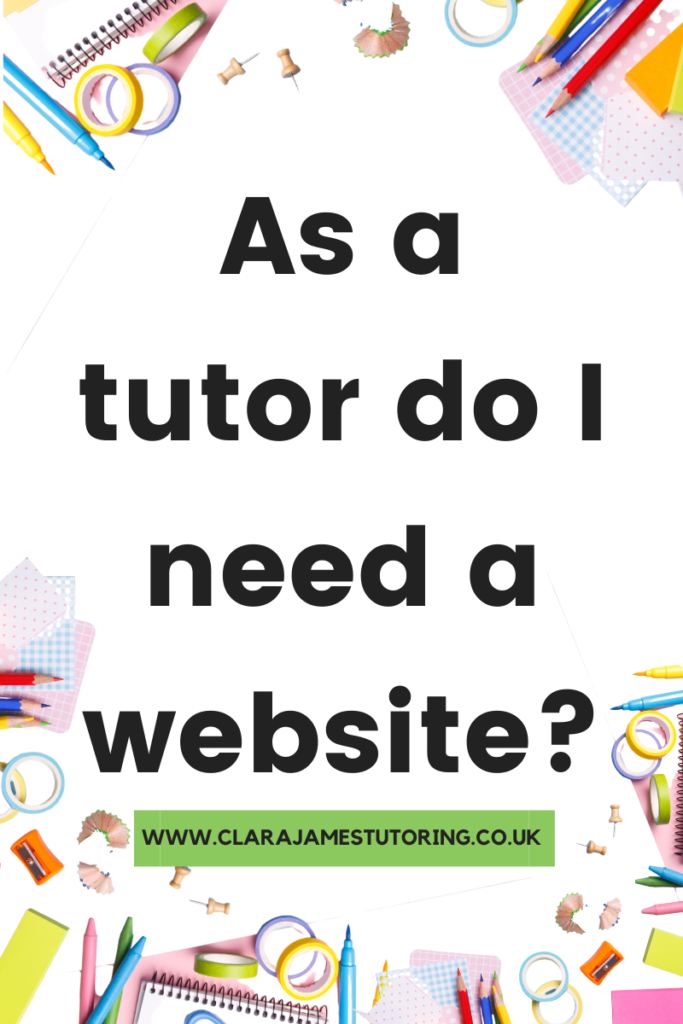 Important points to consider with a tutoring website