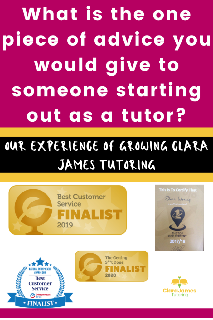 The best advice I can give you in becoming a tutor