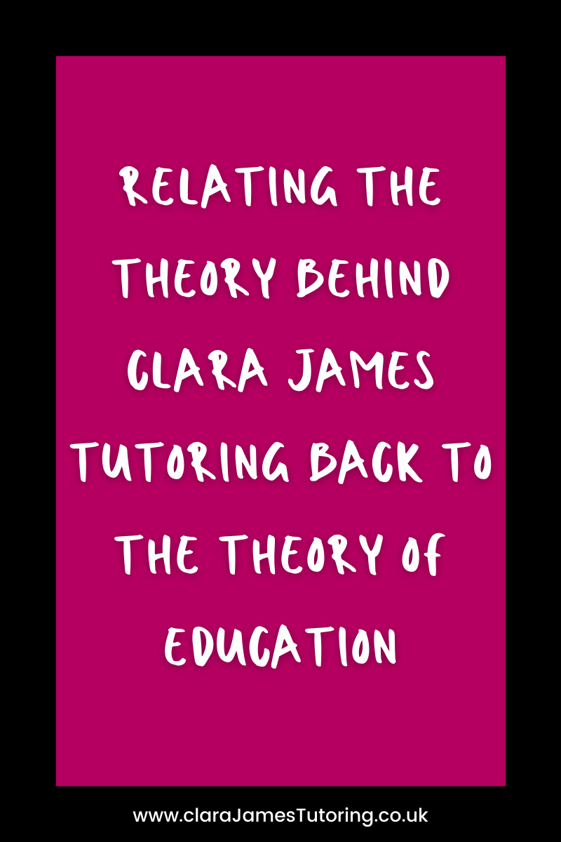 Relating it back to the theory of education