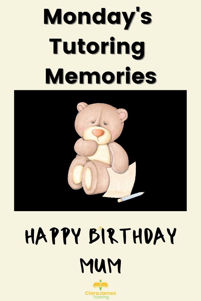 Monday's Memories – Happy birthday mum