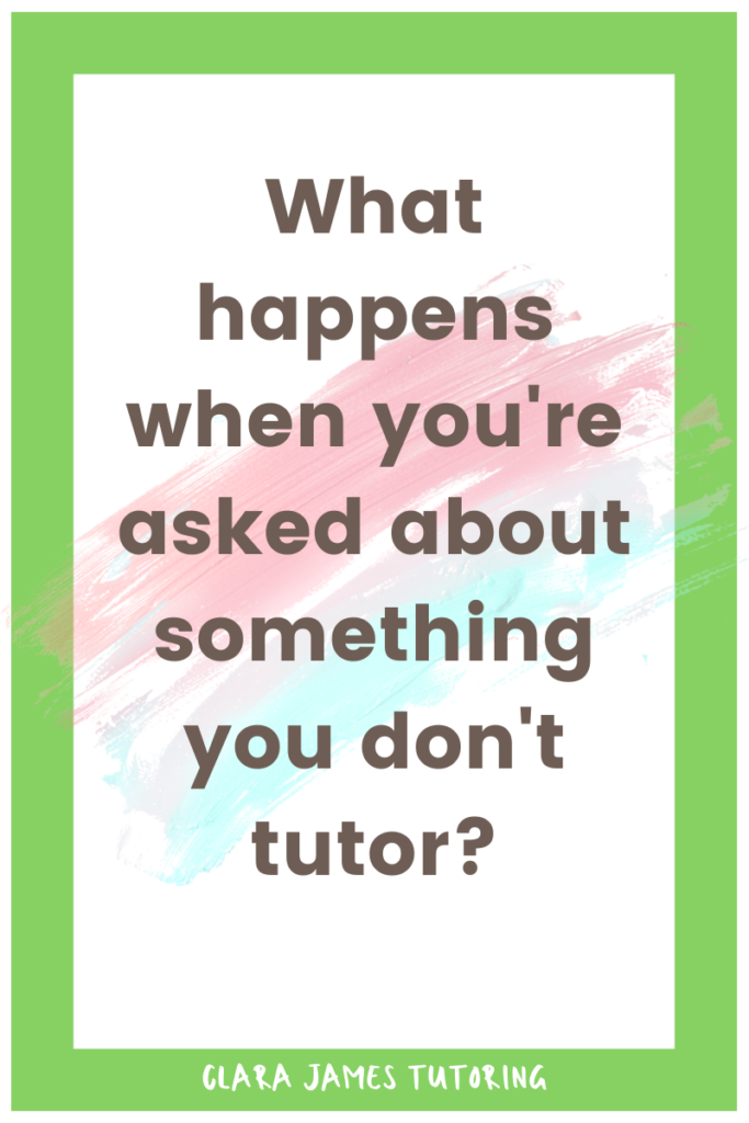 I don't tutor A' Levels, how can I help?